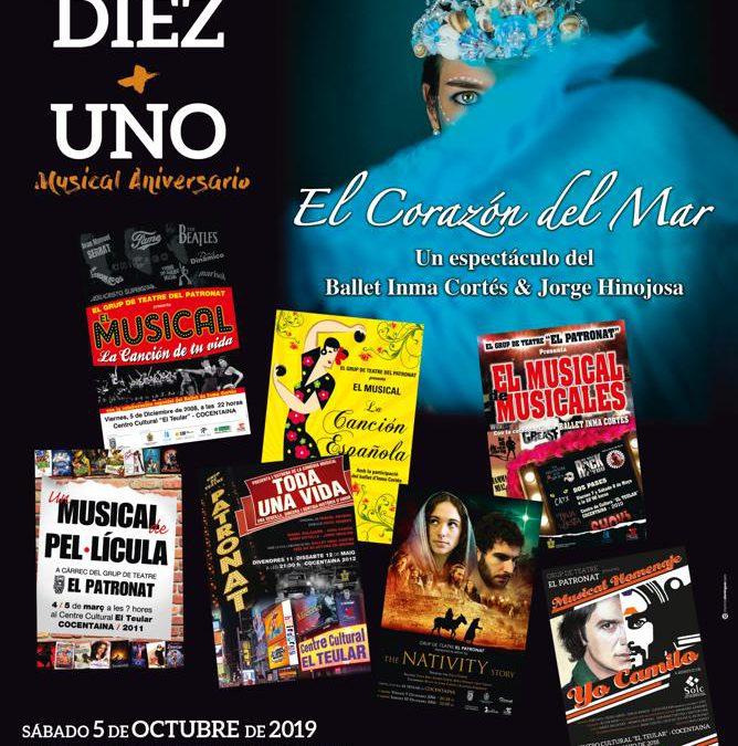 «Corazón del mar» en el musical aniversario «Diez más uno» del grup de teatre El Patronat